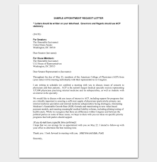 Sample Appointment Request Letter 14 Examples In Word Pdf