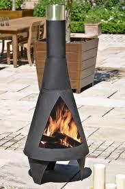 colorado black extra large steel chimenea by la hacienda  £