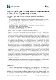 Pdf Targeting Strategies For The Combination Treatment Of