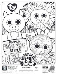 Beanie Boo Coloring Pages Coloringrocks