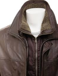 fur collar brown leather fashion coat return to previous page zoom images