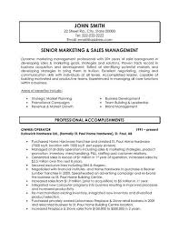 Resume Example Resume Samples For Sales And Marketing Resume
