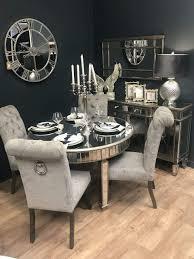 Downton Interiors Antik Champagner Silber Vintage Style Verspiegelt
