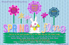 Spring Event Flyer Event Social Committee Spring Fling Waterleaf Falls