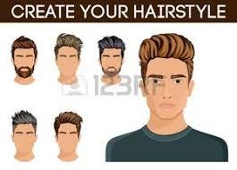 Créer Changer De Coiffure Hommes Style De Cheveux Symbole