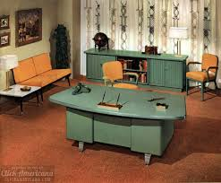 Mid century modern office furniture Contemporary The Way Offices Used To Look Vintage Office Furniture And Sleek Midcentury Modern Desks From 1959 Click Americana The Way Offices Used To Look Vintage Office Furniture And Sleek Mid