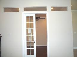 interior french doors transom.