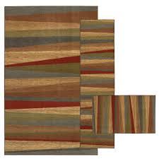 mohawk home mayan sunset sierra 8 ft x 10 ft 3 piece rug set 335441 the home depot