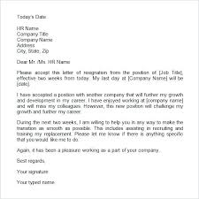 Leaving Job Notice Letter Template New Resignation Templates