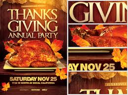 thanksgiving party flyer annual thanksgiving party flyer template flyerheroes
