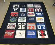 Uniquilts - Welcome! & Quilts made from sports jerseys, school t-shirts, concerts make a wonderful  gift for a high school or college graduate. Going to college? Adamdwight.com