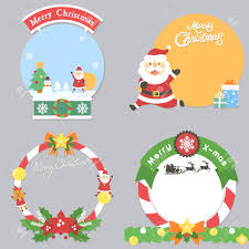 Christmas Note Template Set Of Merry Christmas Note Template Royalty Free Cliparts Vectors