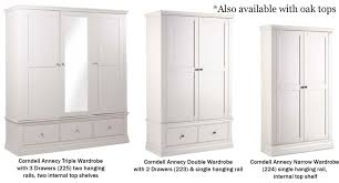 corndell annecy bedroom furniture comes in a wide choice of sizes