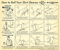 Shirt Folds Reference How To Roll Up Your Shirt Sleeves The Art Of Manliness