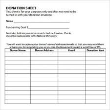 fundraising tracker template donation spreadsheet template receipt template