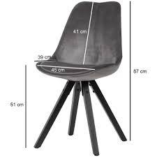 Finebuy Esszimmerstuhl 2er Set Samt Küchenstuhl Modern Schalenstuhl 110 Kg