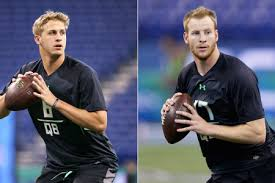 2016 Nfl Draft Jared Goff And Carson Wentz Two Qbs With