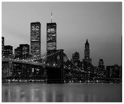 New York Skyline Wallpaper For Bedroom New York Black And White Brooklyn Bridge Manhattan Skyline