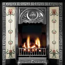 gallery tulip cast iron tiled fireplace insert