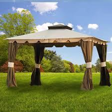 garden winds replacement canopy top and side mosquito netting set for hampton ii gazebo riplock 350 com