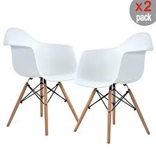 Buy Modern Furniture Beauteous Amazon FurnitureR Set Of 48 Dining Chairs Eames Style Mid