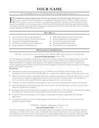 ... entry level accounts payable resume ...