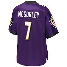Baltimore Tall Jersey Men's Nfl Trace Player Purple amp; Ravens Big Pro Mcsorley Line