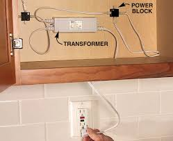 installing undercabinet lighting. Undercabinet Lighting Can Be Easy To Install. Many Fixtures Plug Directly Into Multiple-outlet Power Blocks, Which In Turn A Transformer. Installing