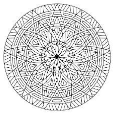 Printable Hard Geometric Coloring Pages