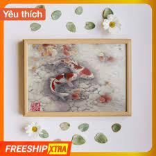 Tranh tô màu theo số Madoca - Tranh sơn dầu số hóa May Mắn kích thước  40x50cm (có khung) tại Hà Nội