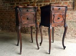 Antique Night Stands Antique French Walnut Marble Night Stands Set Of 2 For Sale At