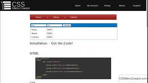 Online Menu Creator Css Menu Creator Build Html Css Jquery Menus Online And