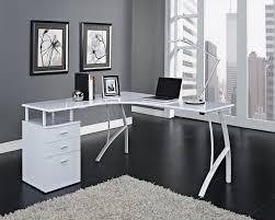 black or white furniture. Corner Office Desk With Drawers Black Or White Furniture U