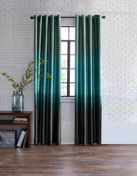 studio dylan ombré grommet top curtain panel teal curtains108 inch