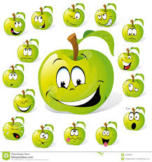 Dessin Anim Vert De Pomme Illustration De Vecteur Image Du