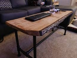 Computer Coffee Table Super Simple Live Edge Pecan Coffee Table With Pipe Legs Album