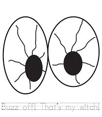 Small Picture Scared Eyes Coloring Coloring Pages