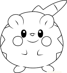 Togedemaru Pokemon Sun And Moon Kids Coloring Page Coloring