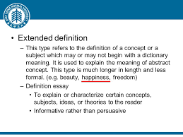 "definition outline ""definition"" defined how to define a word  extended definition this type refers to the definition of a concept or a subject which"