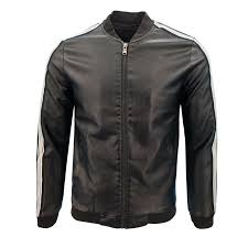 s spring and autumn men s casual fashion collar baseball uniforms pu solid color large leather jacket