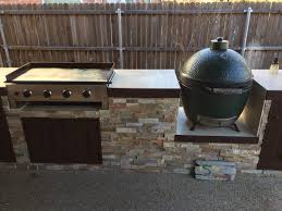 outdoor kitchen griddle best of outdoor kitchen with green egg awesome blackstone griddle outdoor