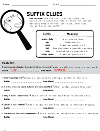 Suffix Meanings Chart Spelling With Suffixes Lesson Plan Education Com