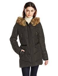 Amazon.com: kensie Women's Diamond-Quilted Down Coat With Faux Fur ... & Kensie Women's Down Coat with Faux Fur Hood Diamond Quilted Sleeve, Black,  X- Adamdwight.com