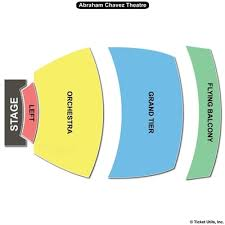 Abraham Chavez Theatre Seating Chart Ticket Solutions