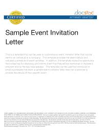 Invitation Event Sample Business Letter Invitation To An Event Complete Guide Example 9
