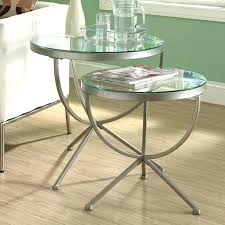 round metal end table innovative glass end table set metal and glass diameter round pertaining to round metal end table