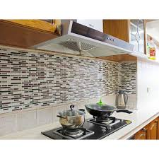 Peel And Stick Kitchen Tile Amazoncom Fancy Fix Vinyl Peel And Stick Decorative Kitchen