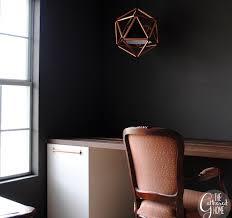 diy copper pipe icosahedron light desk