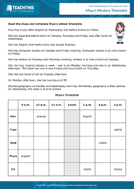 Make A School Timetable Online Free Time Esl Activities Games Worksheets