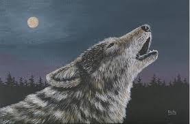 wolf howling painting.  Painting Timber Painting  Lone Wolf Howling By Ann Kelly For F